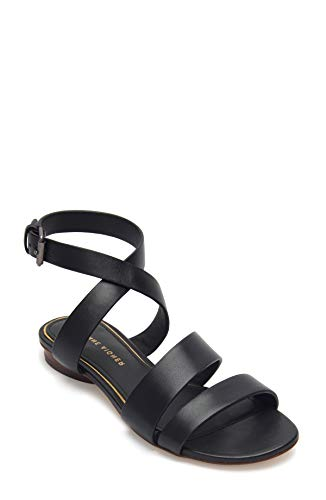 Etienne Aigner Orly - Leather Ankle Wrap Around Sandal In Black