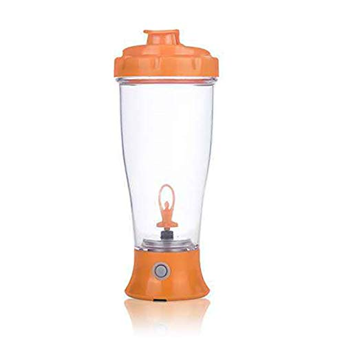 Botella Agitadora Botella Batidora de Proteínas YOUANG Eléctrica Tazas Agitadoras Giratorias Automáticas de 400 Ml para Batidos de Proteínas de Café con Leche (Sin Batería)