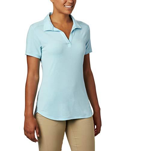 Columbia Essential Elements Polo para mujer, protección solar, absorbe la humedad - Azul - X-Large