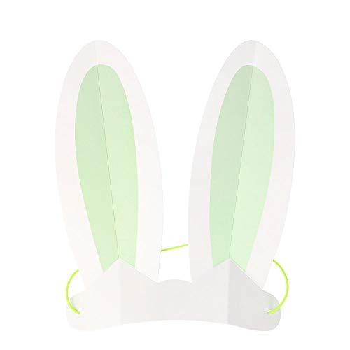 Meri Meri, Pastel Bunny Ears - Pack of 8 in 4 Colors
