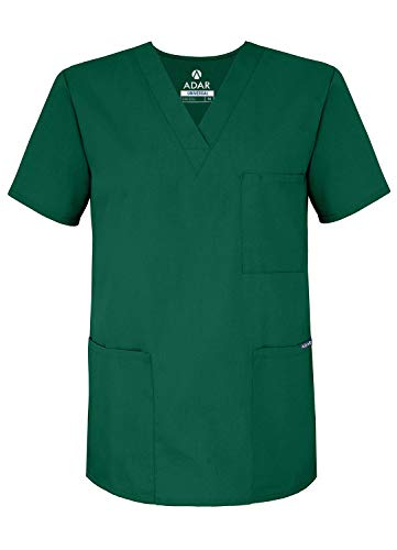 Adar Universal Uniforme Infermiera Unisex - Abbigliamento Medico con Scollo a V - 601 - Hunter Green - S