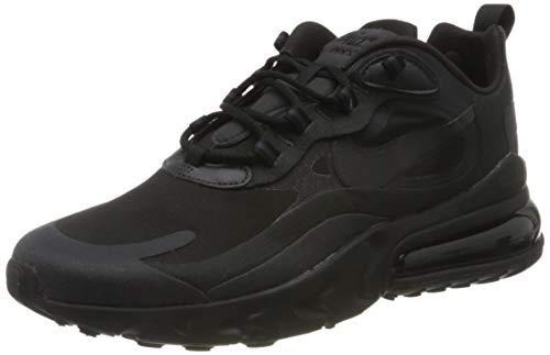 Nike Herren Air Max 270 React Leichtathletik-Schuh, Nero Black Oil Grey Oil Grey Black Black White, 39 EU
