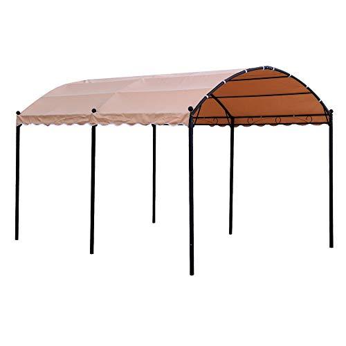 Ldk Garden Pérgola con Estructura de Acero y Cubierta de poliéster 300 X 400 X 250 CM, Beige