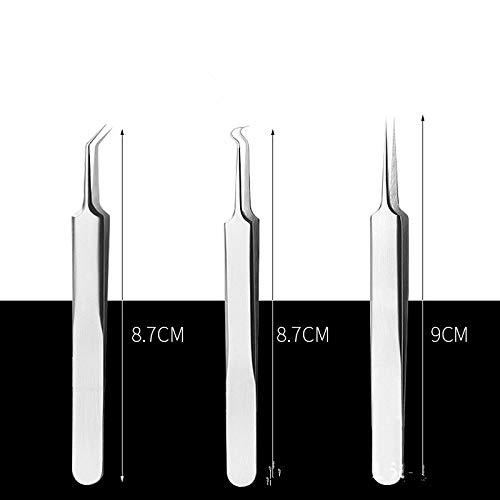 Utile en Acier Inoxydable Courbe Courbe Courbe Point Noir Acné Clip Pince À Épiler Pimple Remover Kit Facial Cleanser Acne Remover