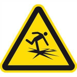 Bord waarschuwing voor dun ijs ISO 20712-1 SL 40 cm aluminium