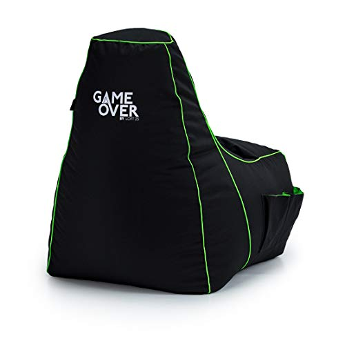 Game Over Fel Magic Video Gaming Bean Bag Chair | Indoor Living Room | Side...