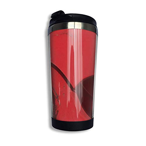 DJNGN Sudadera con capucha abstracta industrial, taza de viaje de café, taza de acero inoxidable con aislamiento al vacío, 13,5 oz
