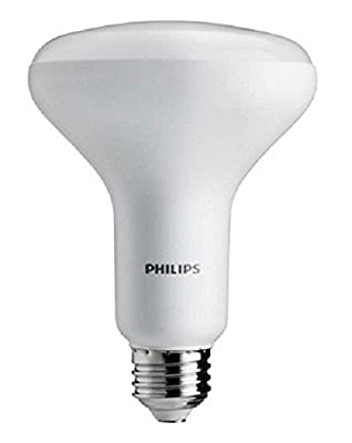 Philips 452268 9.5W 65-watt Warm Glow BR30 LED Flood Light Bulb with Frustration Free Packaging