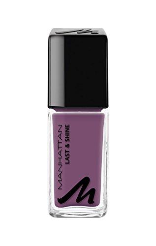 Manhattan Last & Shine Nagellack – Mauve glänzender Nail Polish für 10 Tage perfekten Halt – Farbe Smoking Purple 740 – 1 x 10ml