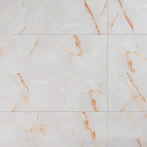PYLTTK 3D Wall Panel Marble Self Adhesive Paper Waterproof Peel and Stick Wallpaper Countertop Bathroom Furniture Decoration 8Pcs Yellow