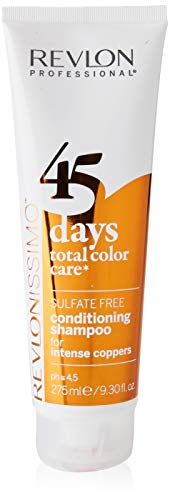 REVLON PROFESSIONAL 45 Days Conditioning Shampoo,Intense Coppers ,1er Pack (1 x 275 ml)