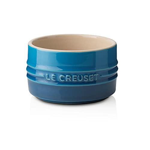 Le Creuset Ramequín liso de cerámica de gres, Apilable, 200 ml, Azul Marseille