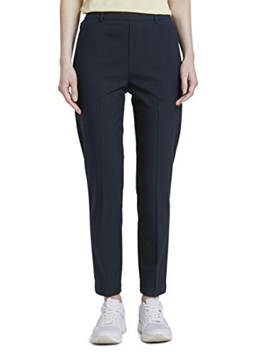 Tom Tailor Easy Shino Solid Pantaloni, 10360/Blu Navy Reale, S Donna