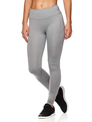 Reebok Damen legging ganzkörper leistung compression hosen klein grauer stein heather