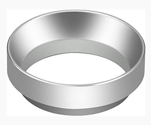XPOOS Anillo de Dosificación, Embudo Dosificador de Café Espresso, Portafiltro de Aluminio, Embudo Dosificador de Anillo de Reemplazo Para Portafiltros de 58 mm (Plata)