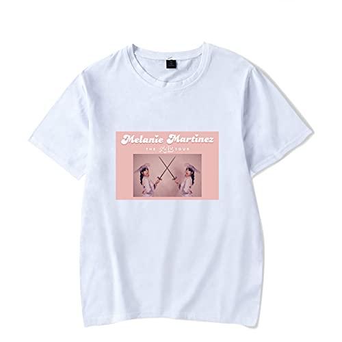iuyomhes Unisex Hip Hop Melanie Martinez T-Shirt Rundhals Casual Kurzarm Printed Classic Cotton Top für Männer und Frauen