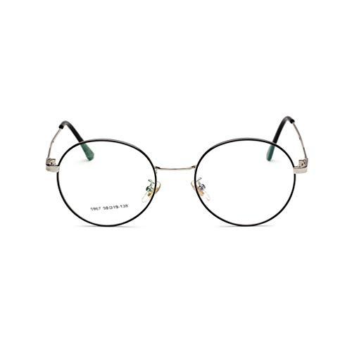 Gafas de sol SWEEPID para hombre y mujer de gran tamaño con marco redondo de metal transparente, unisex, con almohadilla de silicona para la nariz, blanco y negro