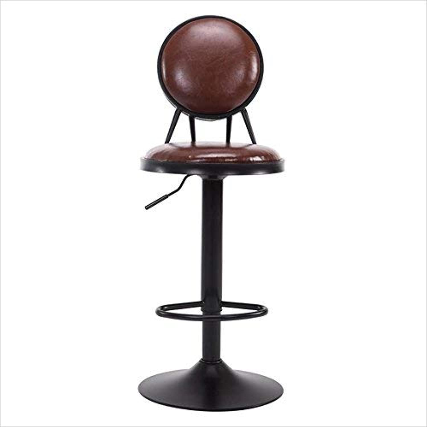 Bar Stool Iron Chair Round Stool Pub High Stool Dining Chair Industrial Style Height Adjustable 6080cm