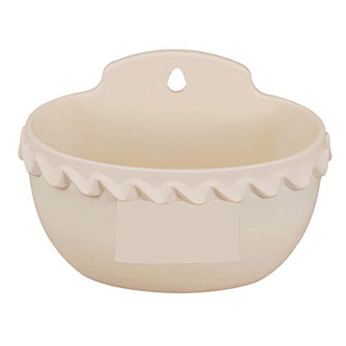 flower pot TXC, macetas de jardín colgantes para colgar macetas, para colgar en la pared, de resina, para colgar en la pared (color: blanco, tamaño: S)