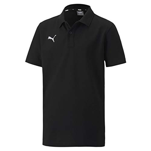 PUMA Jungen teamGOAL 23 Casuals Polo Jr Poloshirt, Black, 164