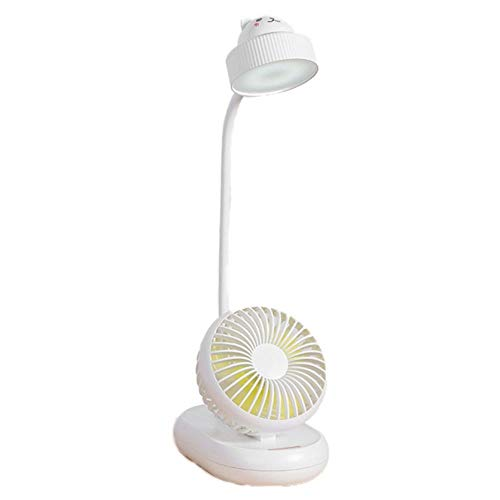 Generies USB Rechargeable LED Desk Lamp Fan Desktop Table Fan Bedroom Home Office Desktop Small Fan Home Office Best Gift