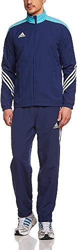 adidas Bekleidung Fußball Pre Trainingsanzug,  Blau(Dkblue/Supcya/White), XXL