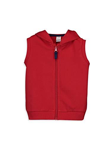 LC WAIKIKI - Chaleco con capucha para bebé con cremallera rojo 18-24 Meses