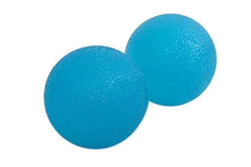 Schildkröt 960124 Fitness Anti-stress therapie ballen, pak van 2, blauw, geelballen, handdrukballen, greepballen, vingertrainingsset, vingertrainingsset