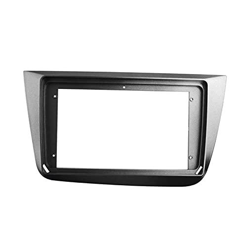 zhuzhu 2din coche radio fascia apta para SEAT ALTEA 2004-2015 DVD Adaptador de placa de marco estéreo Montaje Dash Instalación Kit de ajuste de bisel