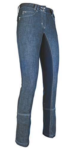 HKM Erwachsene Hose Jodhpur -Miss Blink- 1/1 Alos Besatz6169 jeansblau/dunkelblau52, 6169 jeansblau/dunkelblau, 52, HKM 4000315793259