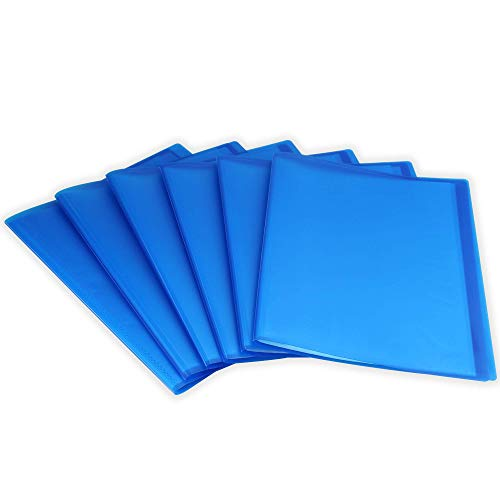 Conjunto de 6 carpetas de visualización A4 | 20 fundas de plástico | Carpeta de presentación | Carpetas | Artículos de oficina y universitarios | Pukkr (azul)