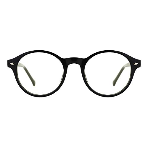TIJN  Blue Light Blocking Glasses Clear Round Computer Eyeglasses Frame...
