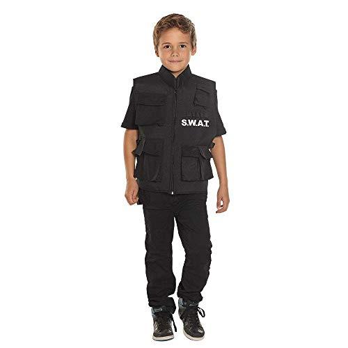 Boland 00488 - Weste SWAT für Kinder, Polizei, Militär, Kinderfasching, Themenparty, Mottoparty