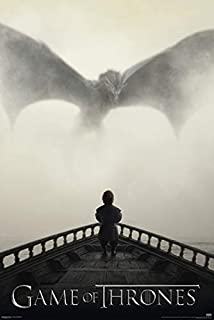 Prime Savings Club: Official Movie Poster Game of Thrones Tyrion & Dragon 24