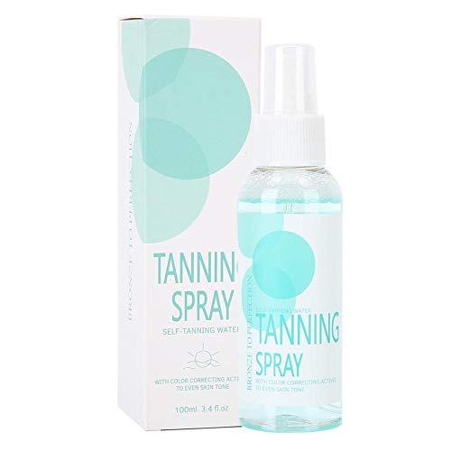 Summer Body Gradual Self Tan, Bronzing Self Tan, ISNER MILE 100ML Bronze Tanning Spray Self Tanner Body Black Bronze Tanning Spray