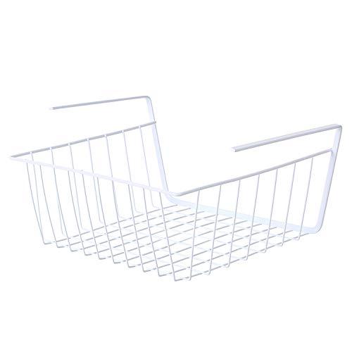 YOHAPPY - Cesta de almacenamiento para colocar debajo del estante - Estante metálico para colgar en la cocina, la oficina, la despensa, el baño o el armario