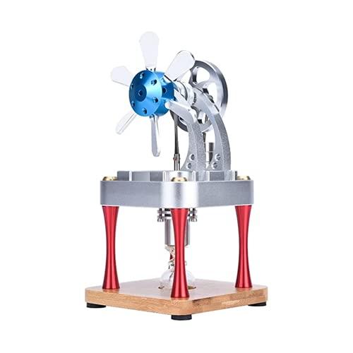 CCCYT Modelo de Motor de Motor Stirling de Aire Caliente Generador Educativo de La Electricidad del Juguete de La Asamblea de DIY DeCilindros para Regalo Educativo