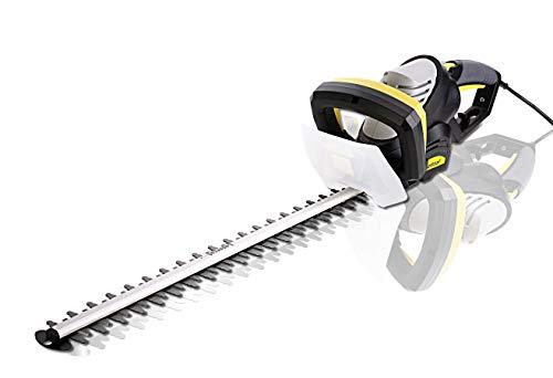 Elektrische heggenschaar 710 W met 610 mm snijlengte en 24 mm tandafstand. Heggenschaar 710 W.