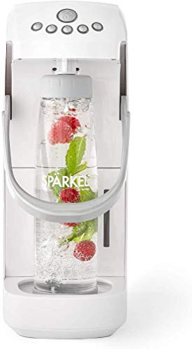Spärkel Beverage System (White) - Sparkling Water and Soda Maker - A New Way of Sparkling - Use Fresh & Natural Ingredients - No CO2 Tank Needed