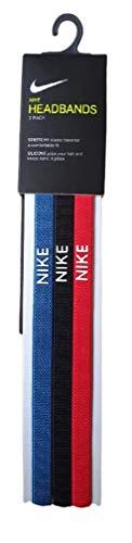 Nike Bandas elásticas de silicona azul/negro/rojo