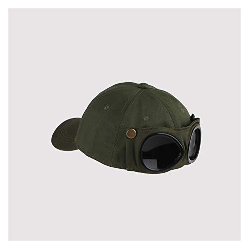 cappello da sole New Aviator Hat Estate Personalità occhiali da baseball cappuccio femminile unisex occhiali da sole tappo maschio cappuccio baseballcap boys cap ( Color : Green , Size : One size )