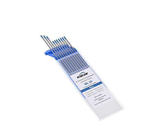 WL20 TIG Soldadura Electrodos de Tungsteno Contienen 2% Lantanio (azul)electrodos de tungsteno Ø2,4X175mm 10 electrodos - No radioactivo
