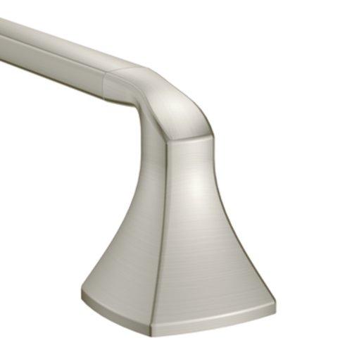 Moen YB5118BN Voss 18-Inch Bathroom Towel Bar, Brushed Nickel