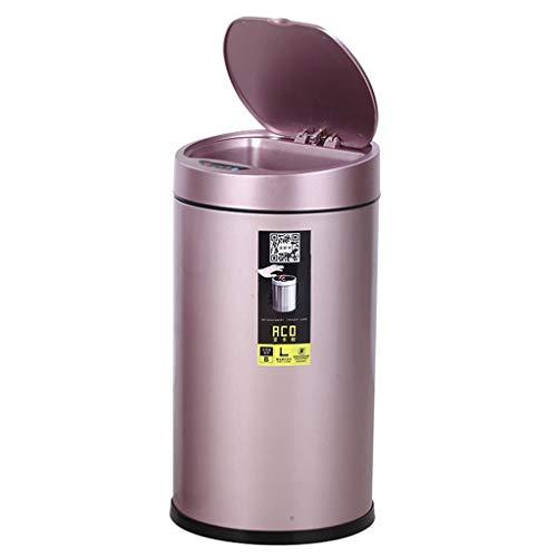 WZLDP Intelligente automatische Mülleimer Induktion Haushalt Wohnzimmer Schlafzimmer Küche Bad mit Abdeckung elektrische Mülleimer (Size : 12L)