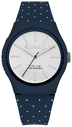 Superdry Unisex Erwachsene Analog Japanischer Quarz Uhr mit Kunststoff Armband SYG166UW