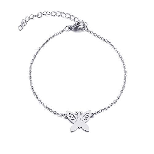 YCWDCS ArmbandEdelstahl Armband Für Frauen Tattoo Schmetterling Gold Und Silber Farbe Pulseira Feminina Liebhaber Engagement Schmuck