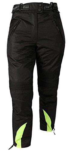 Bangla 1263 Damen Motorradhose Tourenhose Textil Cordura 600 schwarz-neongelb S-XXXL, Schwarz Gelb, XXL