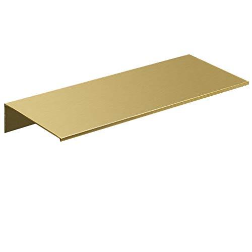 Gesh Estantería de ducha de latón de 40 cm para montar en la pared, accesorio de baño dorado cepillado