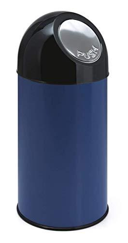 V-part poubelle avec pushdeckel 40 litres (bleu/noir)