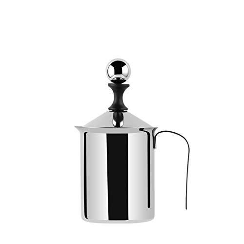 Espumador de leche de acero inoxidable con bomba de mano manual, taza para capuchino y café latte, 400 ml Milk frother